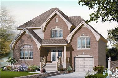 3-Bedroom, 1560 Sq Ft Small House Plans - 126-1137 - Front Exterior