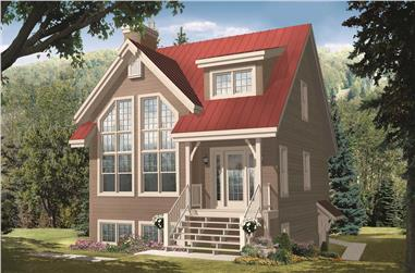 3-Bedroom, 1956 Sq Ft Country House Plan - 126-1140 - Front Exterior