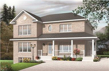 3-Bedroom, 3774 Sq Ft Multi-Unit House Plan - 126-1141 - Front Exterior