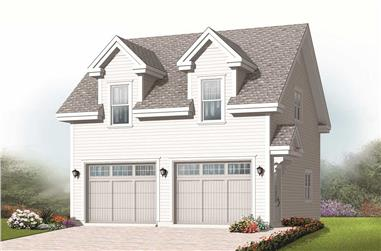 0-Bedroom, 1456 Sq Ft Garage Home Plan - 126-1143 - Main Exterior