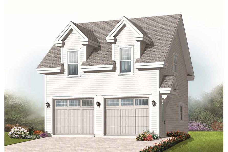 This is a computer rendering of these Garage Plans.