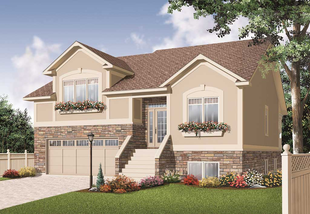 split level house plan 5 bedrms 3 baths 2729 sq ft