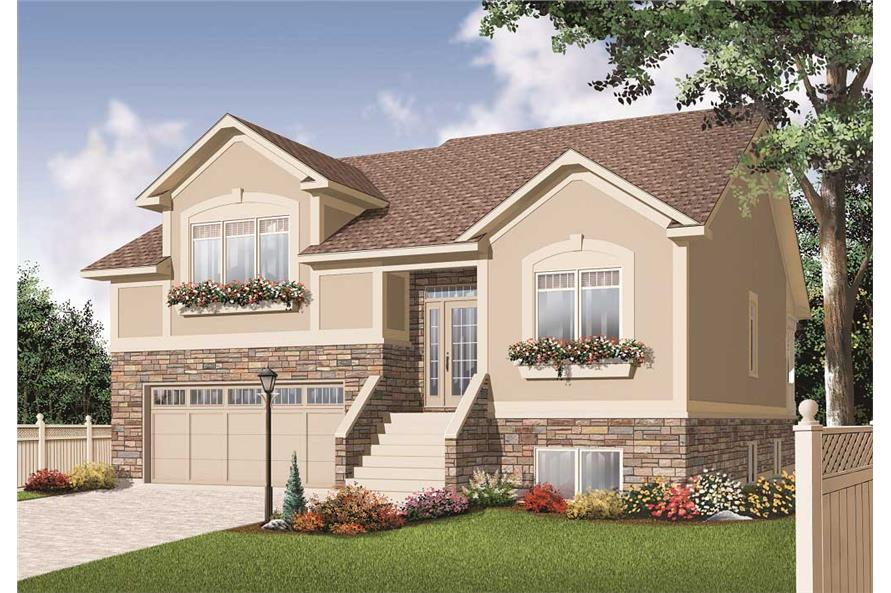 Split level house plans home design 3468 Split plan house