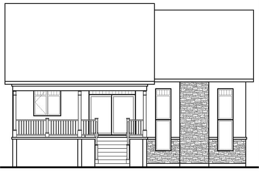 Home Plan Rear Elevation of this 5-Bedroom,2729 Sq Ft Plan -126-1145