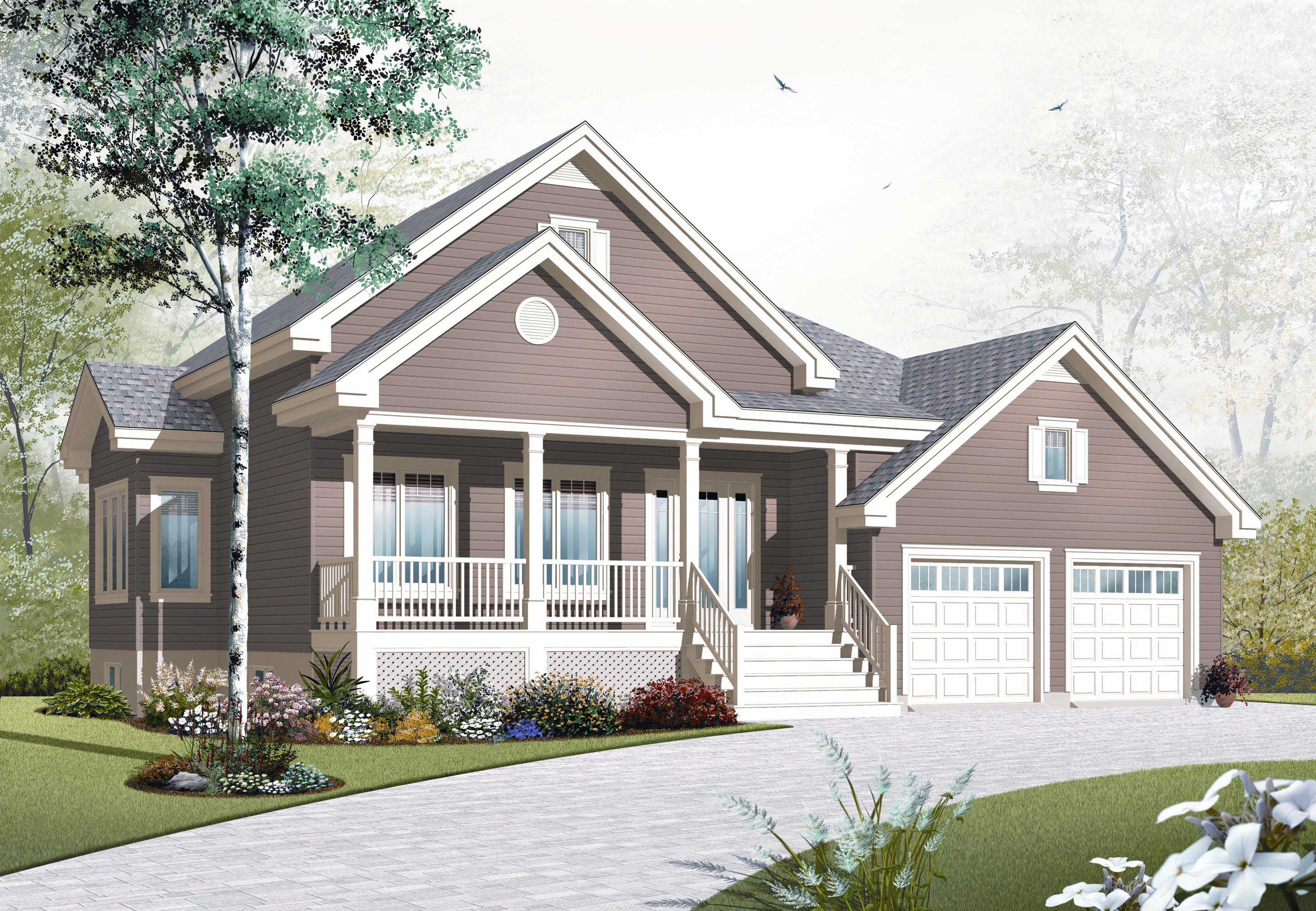 Country floor plan 2 bedrms 1 baths 1350 sq ft 126 for 1350 sq ft house plan