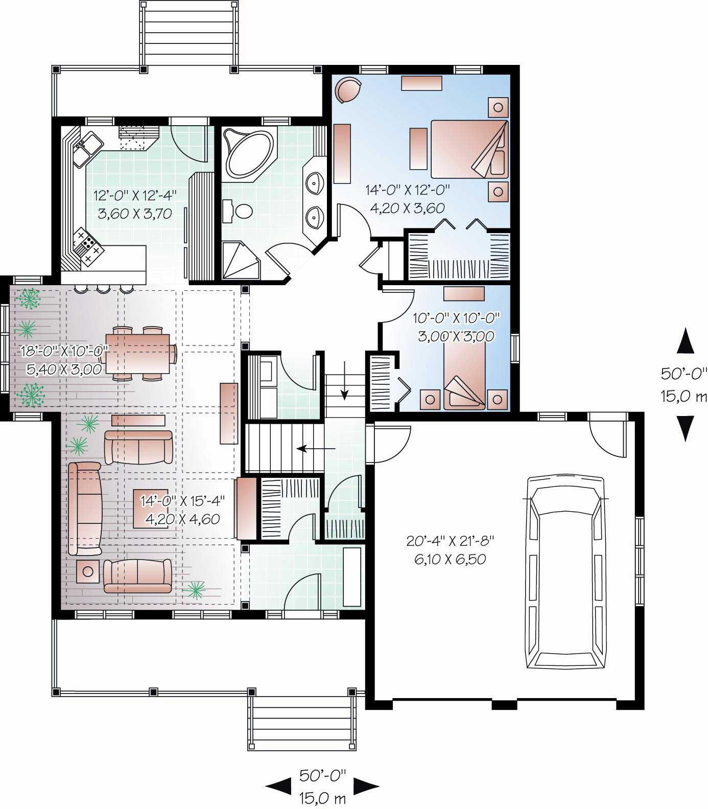 Country Floor Plan 2 Bedrms 1 Baths 1350 Sq Ft 126