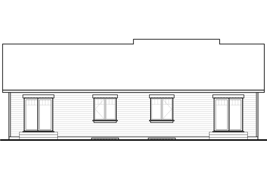 Home Plan Rear Elevation of this 2-Bedroom,1872 Sq Ft Plan -126-1149