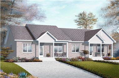 2-Bedroom, 1872 Sq Ft Multi-Unit House Plan - 126-1149 - Front Exterior
