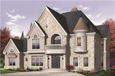 4-Bedroom, 3690 Sq Ft Victorian Home Plan - 126-1152 - Main Exterior