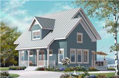 3-Bedroom, 1508 Sq Ft Country Home Plan - 126-1153 - Main Exterior