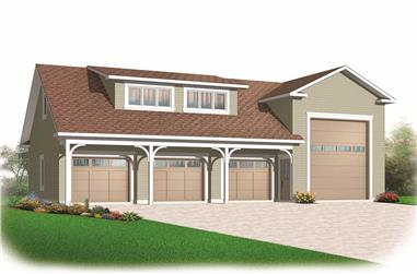 0-Bedroom, 2466 Sq Ft Garage House Plan - 126-1156 - Front Exterior