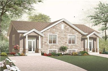3-Bedroom, 3265 Sq Ft Multi-Unit Home Plan - 126-1158 - Main Exterior