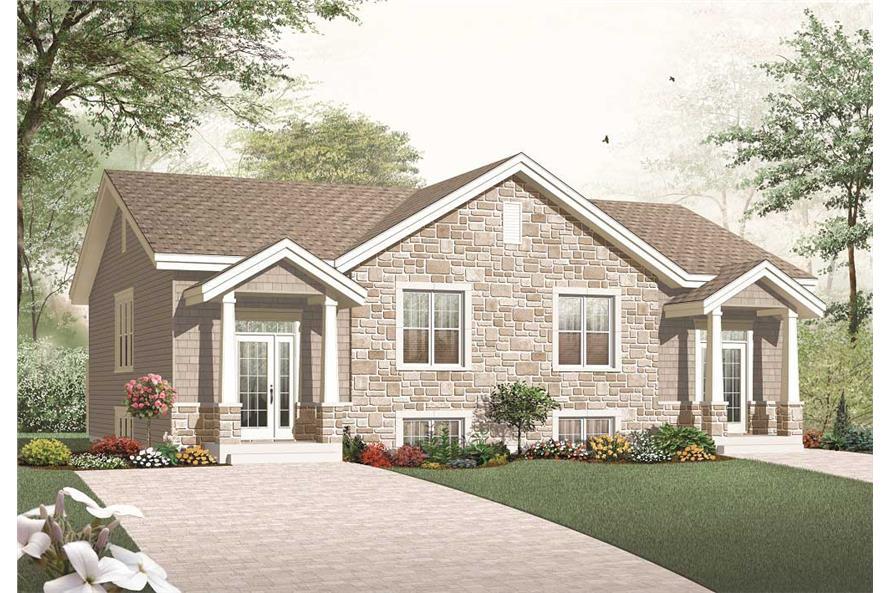 3-Bedroom, 3265 Sq Ft Multi-Unit Home Plan - 126-1158 - Main Exterior