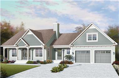 3-Bedroom, 1432 Sq Ft Traditional House - Plan #126-1159 - Front Exterior