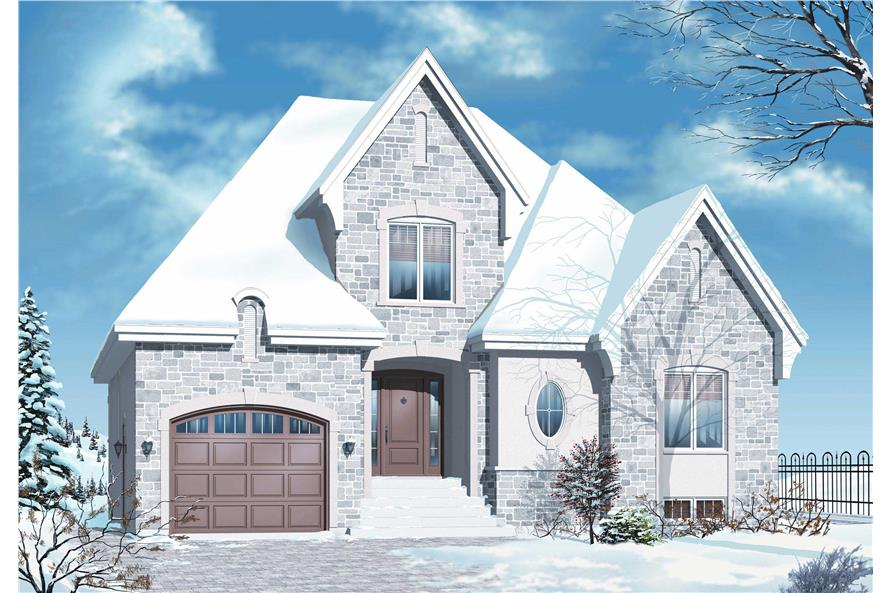 Home Plan 3D Image of this 3-Bedroom,1798 Sq Ft Plan -1798