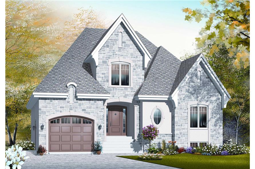 3-Bedroom, 1798 Sq Ft Cape Cod Home Plan - 126-1160 - Main Exterior