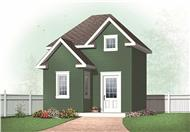 This is the front elevation for these Small House Plans.