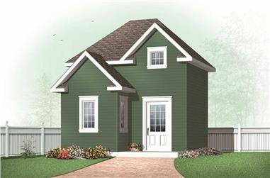 0-Bedroom, 416 Sq Ft Specialty Home Plan - 126-1166 - Main Exterior