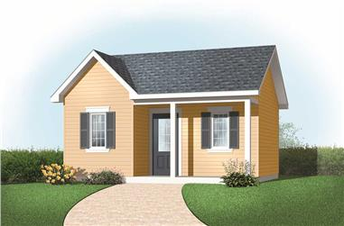 0-Bedroom, 272 Sq Ft Specialty Home Plan - 126-1167 - Main Exterior