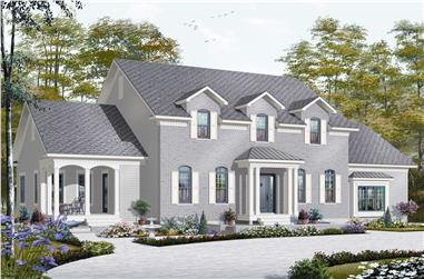 5-Bedroom, 3126 Sq Ft Colonial House Plan - 126-1168 - Front Exterior