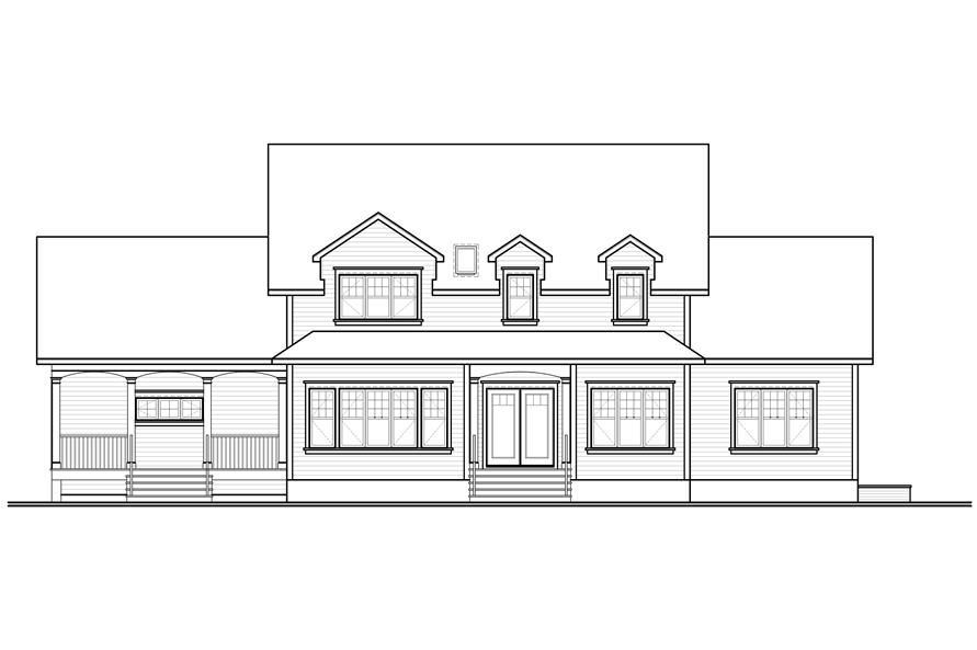 Home Plan Rear Elevation of this 5-Bedroom,3126 Sq Ft Plan -126-1168