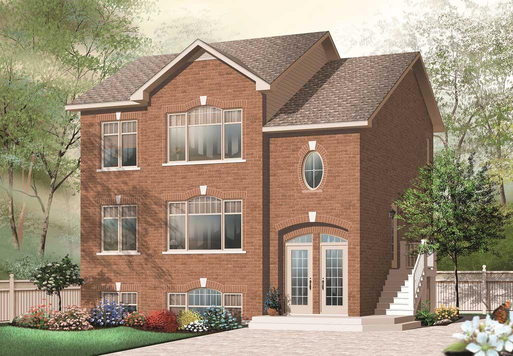 Multi unit homeplans home design 3038 v1 for Multi unit home plans