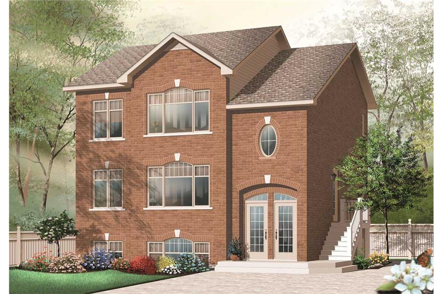 This is the front elevation of these multi-unit Home Plans.