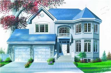 3-Bedroom, 1996 Sq Ft Contemporary House Plan - 126-1170 - Front Exterior