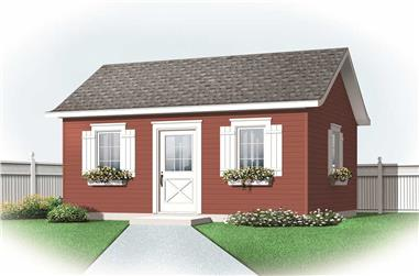 0-Bedroom, 320 Sq Ft Specialty Home Plan - 126-1171 - Main Exterior