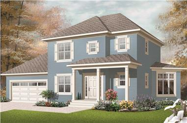 3-Bedroom, 1662 Sq Ft Small House Plans - 126-1172 - Main Exterior