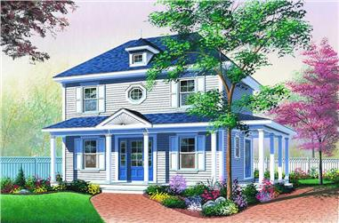 3-Bedroom, 1352 Sq Ft Country House Plan - 126-1173 - Front Exterior