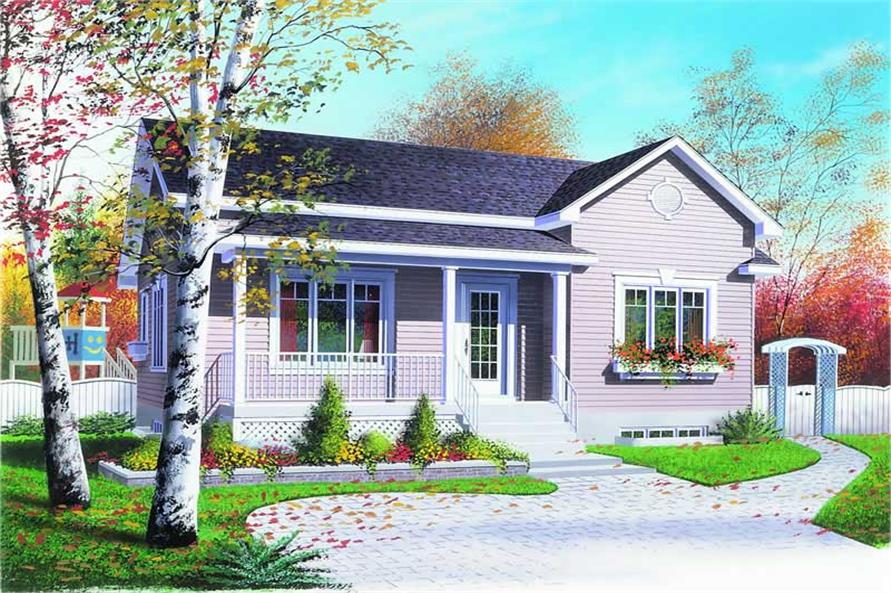 3-Bedroom, 1090 Sq Ft Bungalow House Plan - 126-1175 - Front Exterior