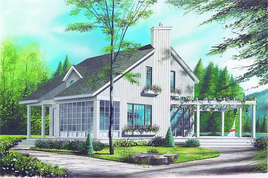 2-Bedroom, 1058 Sq Ft Country House Plan - 126-1178 - Front Exterior