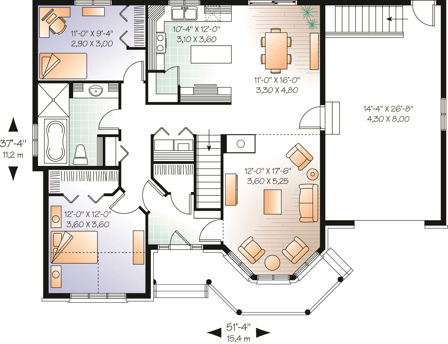 European houseplans home design 2294 v1 for 126 simcoe floor plan