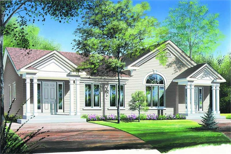 2-Bedroom, 946 Sq Ft Contemporary House Plan - 126-1187 - Front Exterior