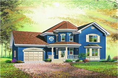 3-Bedroom, 1580 Sq Ft Country House Plan - 126-1188 - Front Exterior