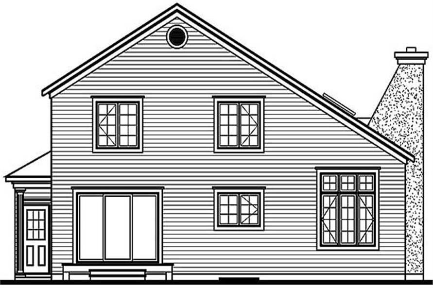 Home Plan Rear Elevation of this 3-Bedroom,2089 Sq Ft Plan -126-1189