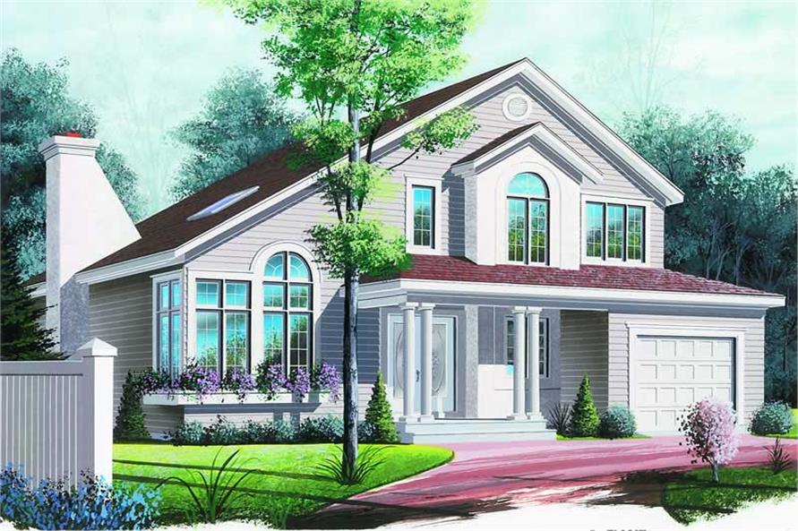 3-Bedroom, 2089 Sq Ft Contemporary Home Plan - 126-1189 - Main Exterior