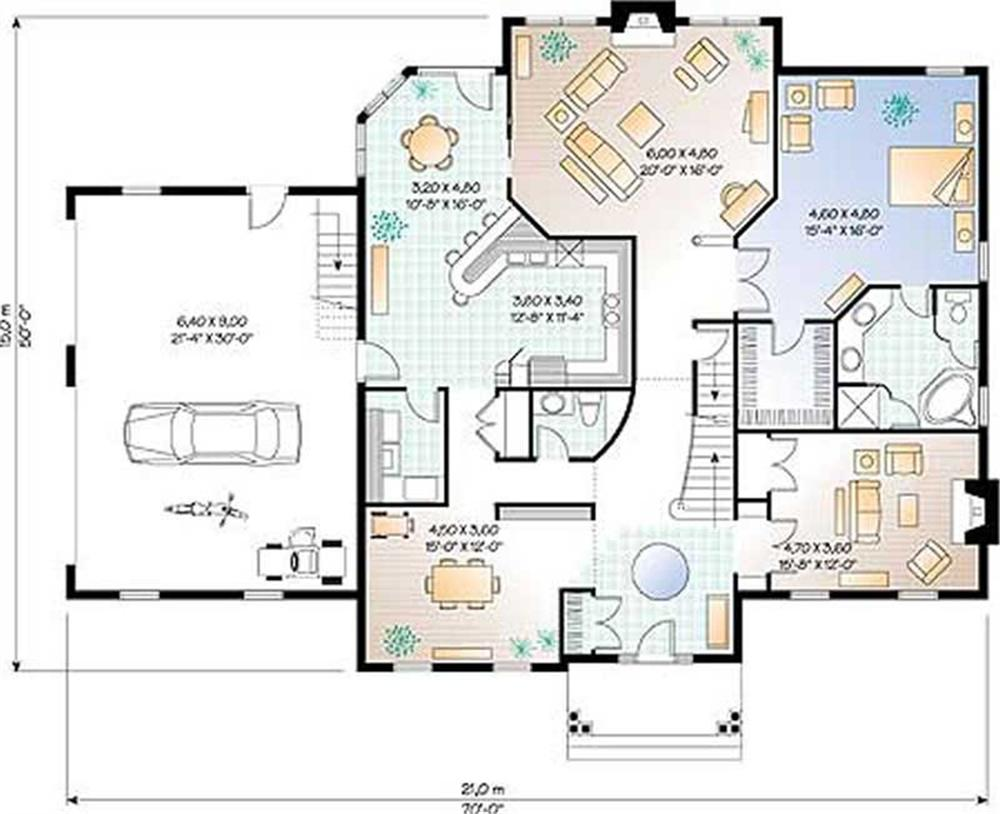 Large images for house plan 126 1191 for Home plan collection