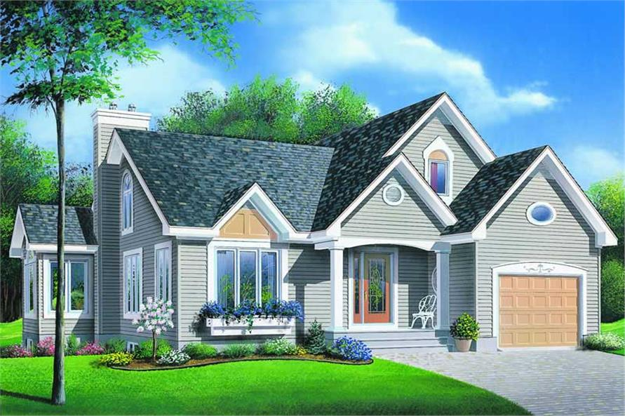 2-Bedroom, 1332 Sq Ft Country Home Plan - 126-1192 - Main Exterior