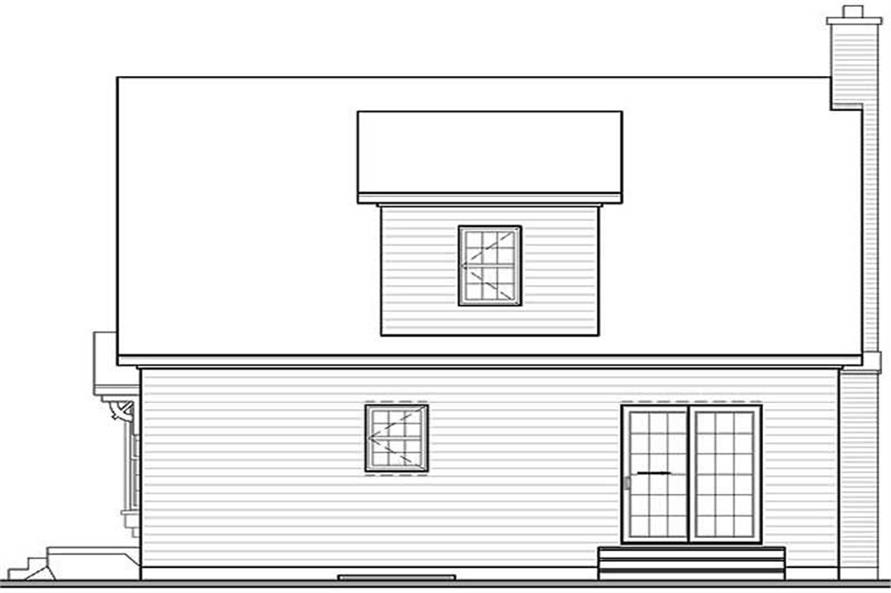 Home Plan Rear Elevation of this 3-Bedroom,1258 Sq Ft Plan -126-1194