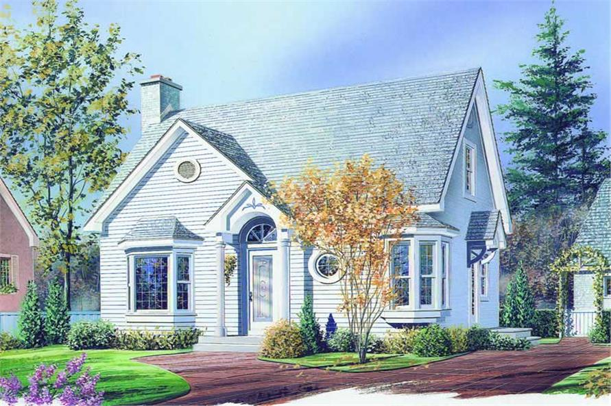 3-Bedroom, 1258 Sq Ft Country House Plan - 126-1194 - Front Exterior