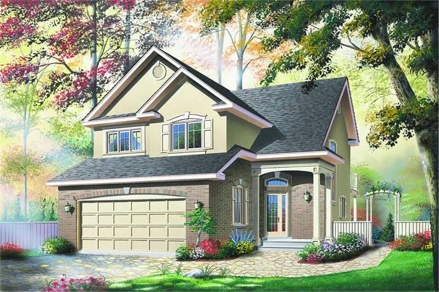 3-Bedroom, 2005 Sq Ft Contemporary House Plan - 126-1195 - Front Exterior