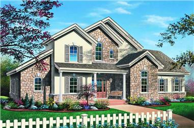 3-Bedroom, 2300 Sq Ft Traditional Home Plan - 126-1196 - Main Exterior