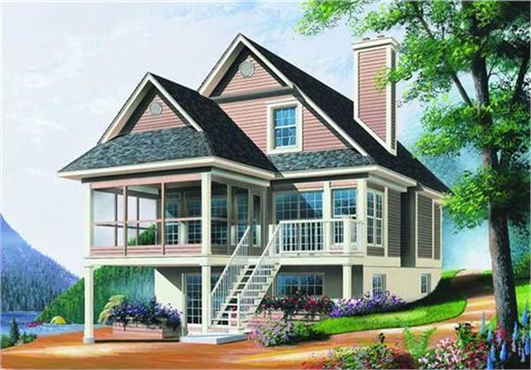 126-1198: Home Plan Rendering-Front Door