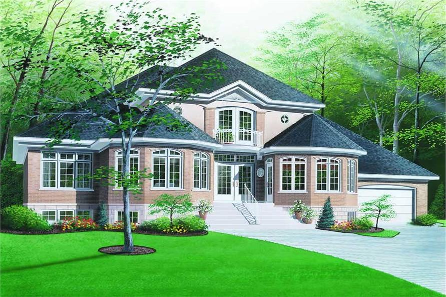 3-Bedroom, 2404 Sq Ft Country House Plan - 126-1202 - Front Exterior