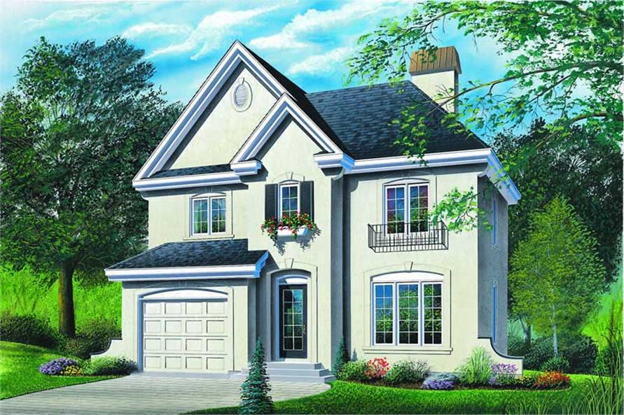 3-Bedroom, 1677 Sq Ft Contemporary House Plan - 126-1204 - Front Exterior