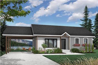 2-Bedroom, 947 Sq Ft Ranch Home - Plan #126-1206 - Main Exterior