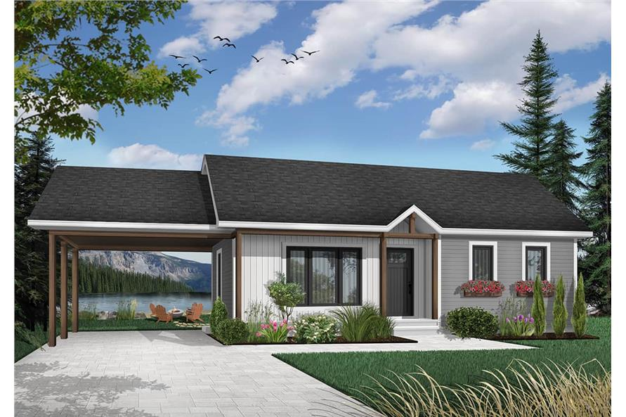 2-Bedroom, 947 Sq Ft Ranch Home - Plan #126-1206 - Main Exterior