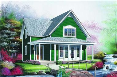 2-Bedroom, 1176 Sq Ft Country House Plan - 126-1207 - Front Exterior